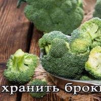 Срок и способы хранения капусты брокколи на зиму