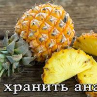 Условия и срок хранения ананаса