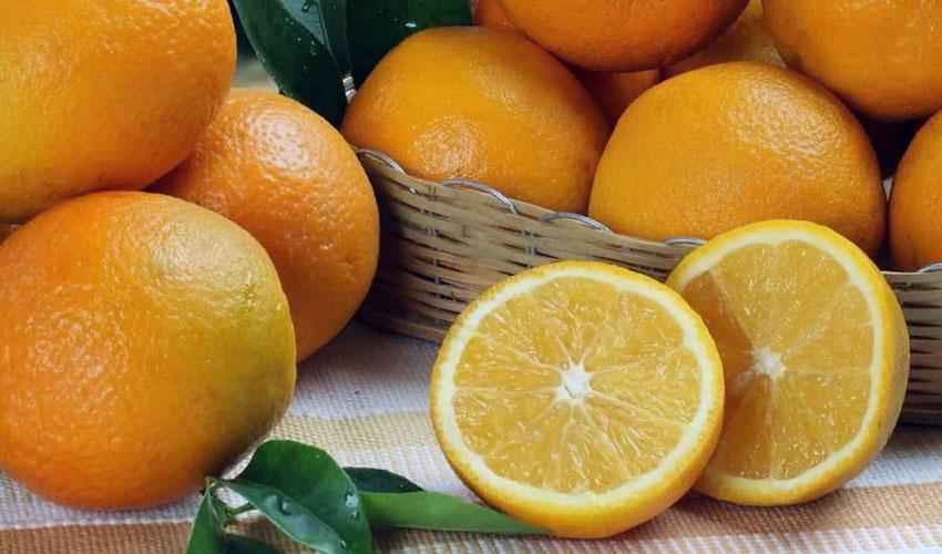 апельсины в корзинке