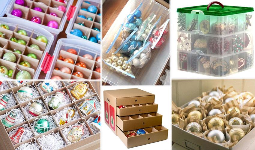 коробки для хранения елочных игрушек