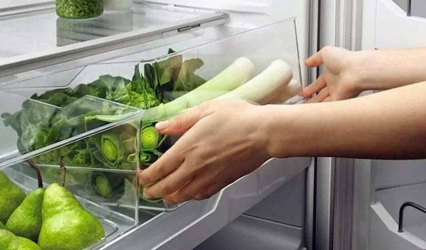 лук порей в холодильнике