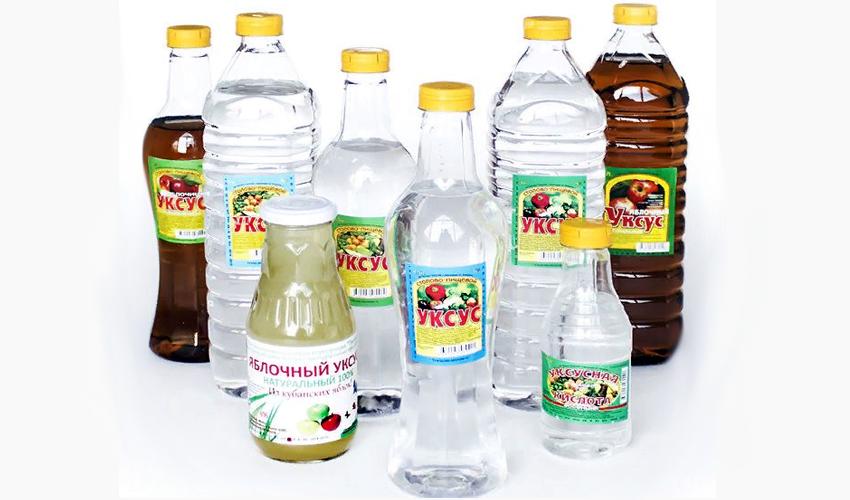 уксус в пластиковых бутылках