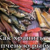Срок, температура и условия хранения копченой рыбы