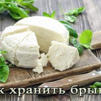 Срок и условия хранения домашней брынзы в рассоле, холодильнике, морозилке