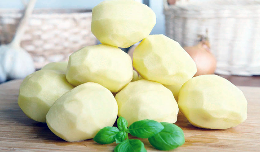 чищенная картошка