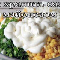 Срок и условия хранения салатов с майонезом