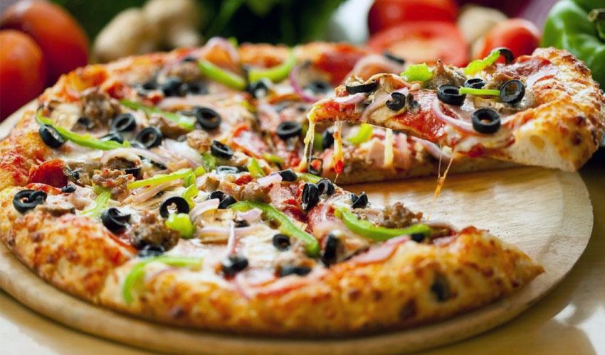 теплая пицца