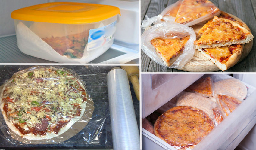 пицца в холодильнике