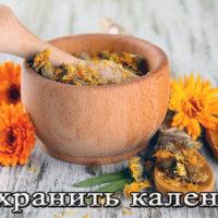 Хранение настойки и цветков календулы