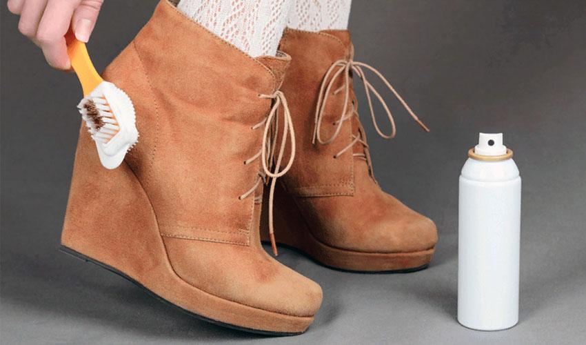 хранение замшевой обуви