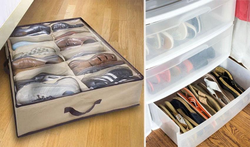 хранение летней обуви