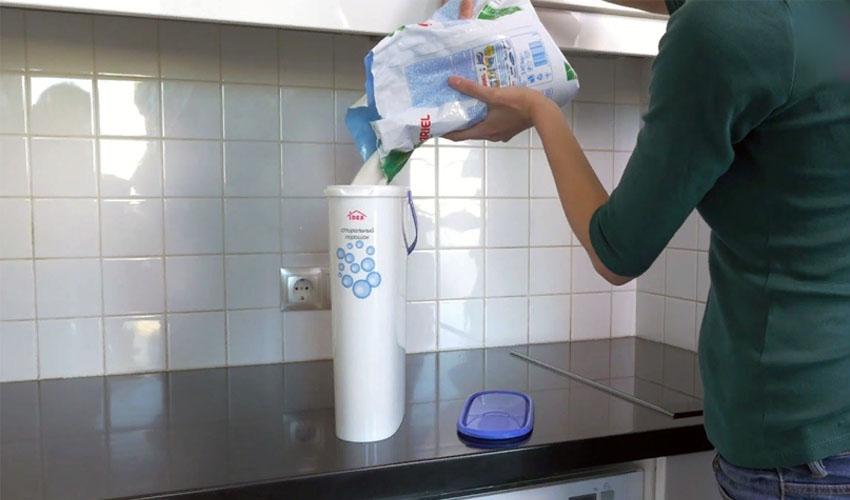 в чем хранить стиральный порошок