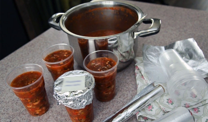 как заморозить суп