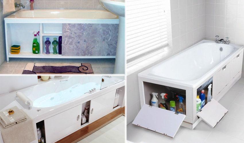 хранение инвентаря в ванной