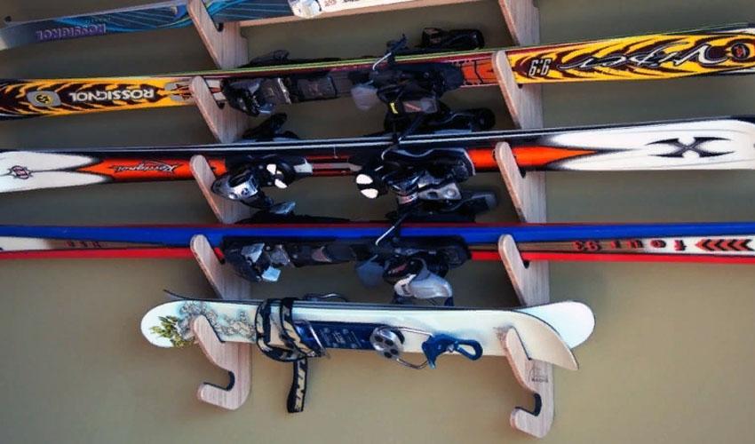 идея для хранения лыж