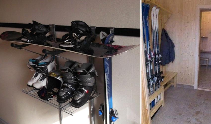 хранение лыж летом