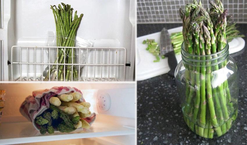 хранение спаржи в хоодильнике