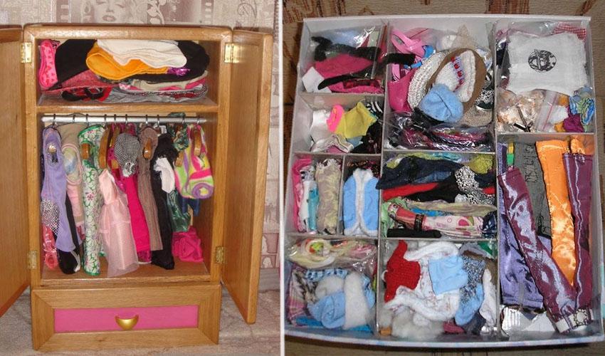как хранить одежду для кукол