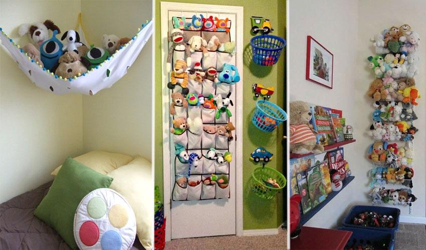 хранение детских мягких игрушек