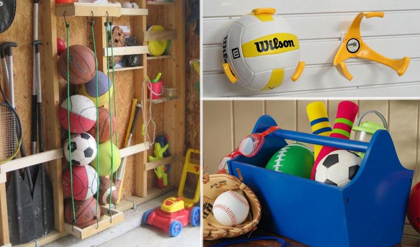 варианты хранения мячей