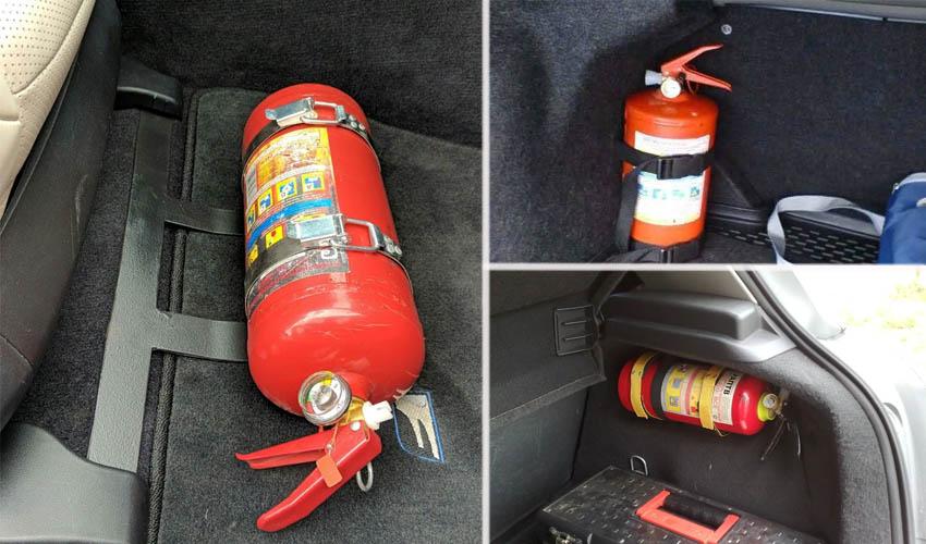 где хранить огнетушитель