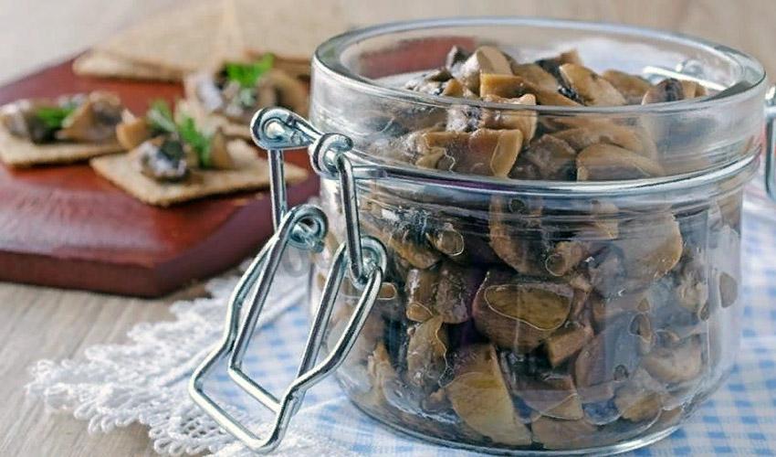 хранение жаренных грибов на зиму
