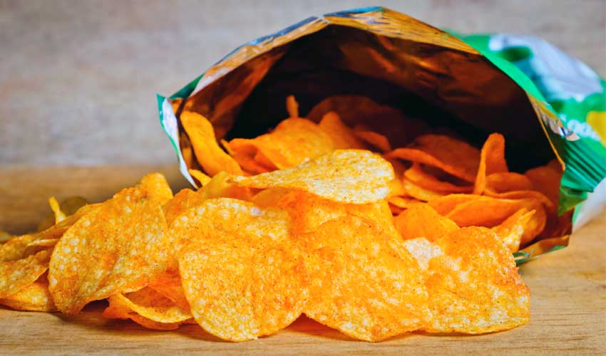 как хранить открытые чипсы